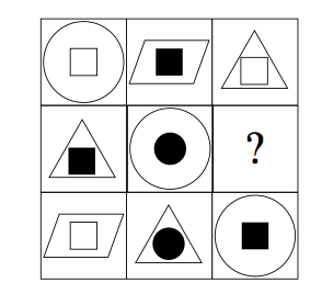 Abstract Reasoning Sample Question taken from the NSW Department of Education's Publicly Available Practice Paper